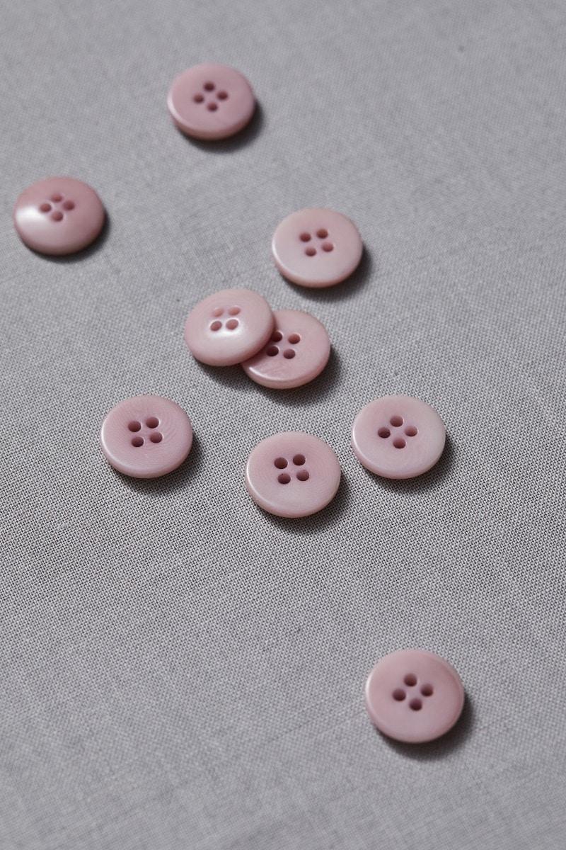 Meet Milk: Plain Corozo Button Puff 15 mm - Elsbeth und Ich